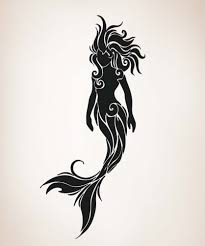 mermaid silhouette swimming mermaid silhouette