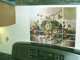 ceramic tile murals for kitchen backsplash decorative tile backsplash kitchen tile ideas fruit bouquet ii