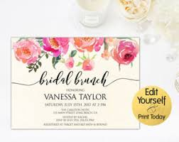 bridal luncheon invitations bridal brunch etsy
