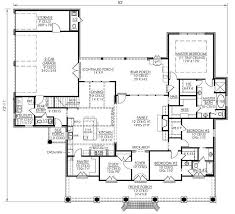 4 bedroom house plans 1 story southern style house plans 2674 square foot home 1 story 4