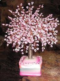 Beaded Home Decor Pink Tree Beaded Tree Decoration Art Ioma