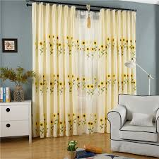 Sunflower Yellow Curtains Pastoral Sunflower Curtains Living Room Curtains Finished Custom