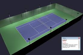 outdoor tennis court led lighting u0026 pole package