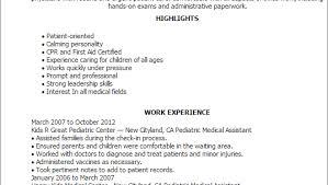 Pediatric Medical Assistant Resume Dental Assistant Resume Examples Veterinary Assistant Resume