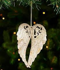 trimsetter peace on earth collection glitter wings ornament