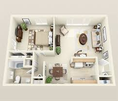 Modern 2 Bedroom Apartment Floor Plans Exellent 3d One Bedroom Apartment Floor Plans The Paul 897 And