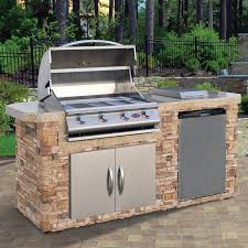 amazon com cal flame lbk 701 as natural stone grill island with amazon com cal flame lbk 701 as natural stone grill island with 4 burner stainless steel gas grill 7 medium patio lawn garden