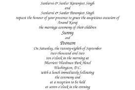 sikh wedding card our wording templates madhurash