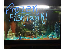 decorating disney frozen fish tank youtube