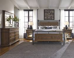 reddington wood u0026 metal panel bedroom set in brown by pulaski