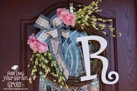 monogram wreath floral monogram wreath www thefarmgirlgabs