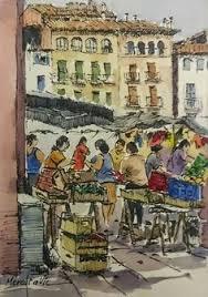 sant andreu comtal barcelona ink and watercolor joaquim