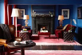 interiors red white and shades of blue u2014 sukio design co