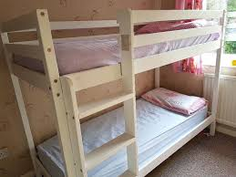 Beech Bed Frame Shorty Bed Frame Mid Sleeper White With Pink Tent Metal Kenny Bunk