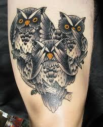 three owls tattoo owls by samuli 1 legacy tattoo helsinki