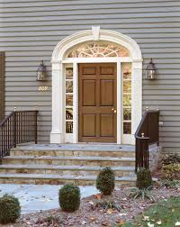 Exterior Door Pediment And Pilasters by Front Door With Elliptical Transom And Pilasters Architecture