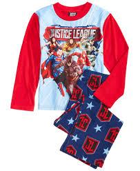 dc comics 2 pc justice league pajama set boys 4 7 big
