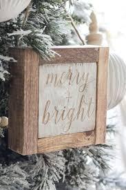 mini wooden sign ornaments 11 more diy ornament ideas