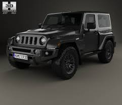 black jeep rubicon jeep wrangler project kahn jc300 chelsea black hawk 2 door 2016 3d