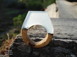buy wood rings images Celestial ring of epoxy resin and wood shop online on livemaster jpg