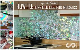 kitchen backsplash diy how to use cds for mosaic craft projects diy kitchen