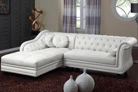 canapé d angle capitonné canapé d angle gauche 4 places pu capitonné blanc côtécosy