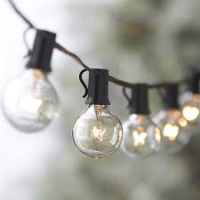 Vintage Outdoor Lights Globe String Lights In Outdoor Lighting Reviews Crate And Barrel