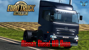 nissan blue truck euro truck simulator 2 nissan diesel ud quon youtube