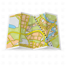 map paper abstract folded paper city map vector clipart image 28501 rfclipart