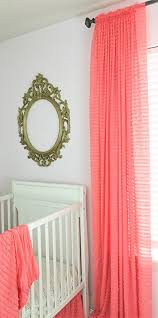 Sheer Coral Curtains Light Coral Ruffle Curtain 84 Wrinkle Free Shabby