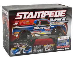new monster jam trucks stampede vxl 1 10 rtr 2wd monster truck silver by traxxas