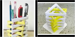 how to make a pen stand from waste material diy paper penholder