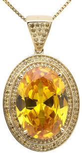 yellow gemstone necklace images 10k yellow gold royal created topaz canary diamond statement jpg
