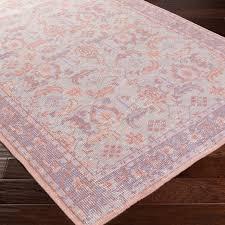 surya zahra blush hand knotted wool rug