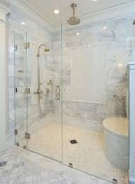 Connecticut Shower Door The Master Bath Custom Built Shower Is Enclosed With A Frameless