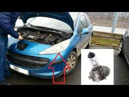 change the headlight bulb to a peugeot 207 youtube