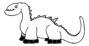 dinosaur 1a black white line art scalable vector graphics svg