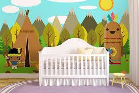 chambre enfant papier peint papier peint chambre enfant au pays des indiens izoa