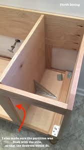 build a diy bathroom vanity part 3 creating the partitions