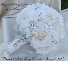 brooch bouquet tutorial hydrangea brooch bouquet brooch bouquet ivory wedding bouquet