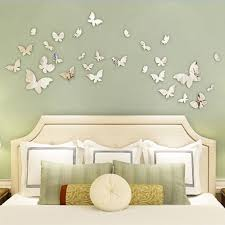 Diy Butterfly Decorations by Online Shop 12pcs Set New Diy Home Decorations Mirror Sliver 3d