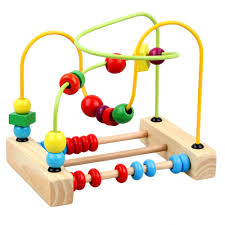 wooden bead toy table surwish wooden toys counting bead abacus wire maze roller coaster