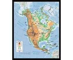 Physical Map Of The United States by Maps Of North America And North American Countries Political