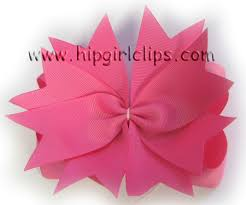 pink hair bow how to make 2 layer interchangeable hair bows with spike part i