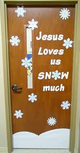 Easy Breezy Sunday School Winter Door Decorations
