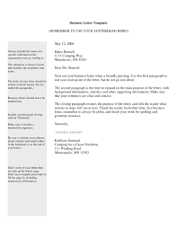 business letters format professional way of passing out letter