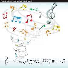 music notes tornado vector yayimages com