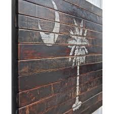 Reclaimed Wood Flag Planked South Carolina Palmetto Flag Wall Decor