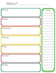 blank weekly calendar template weekly calendar template