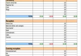 spreadsheet for wedding planning destination wedding budget